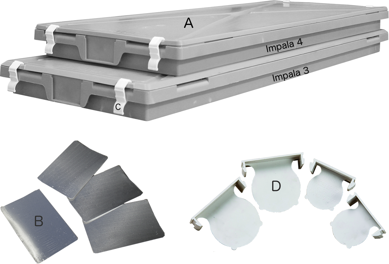 Impala Plastic Core Tray Accessories